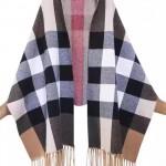 Lvaaa.tw-06 巴寶莉冬季保暖經典格子羊毛加羊絨披肩