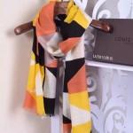 LV圍巾-12-01 人氣熱銷趙薇同款山羊絨面料幾何圖形LV刺繡LOGO方巾