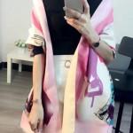 Dior圍巾-04 人氣熱銷時尚新款精致數碼噴繪羊絨制成時髦女士圍巾披肩