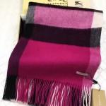 Lvaaa.tw-011-2 巴寶莉經典款紫色大格子羊絨披肩圍巾