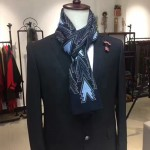 LV圍巾-17 路易威登最新走秀款男士上午刺繡羊絨長款圍巾