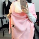 GUCCI圍巾-24-01 潮流時尚GUCCI定製版小蜜蜂水貂絨圍巾