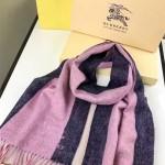 Lvaaa.tw-018-2 巴寶莉潮流最新款女士拼色羊絨長款流蘇圍巾