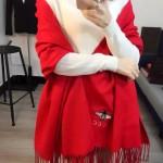 GUCCI圍巾-24-02 潮流時尚GUCCI定製版小蜜蜂水貂絨圍巾