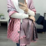 GUCCI圍巾-25-02 人氣熱銷時尚款水貂絨帶繡披肩圍巾