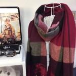 Lvaaa.tw-圍巾032-2 巴寶莉人氣新款經典格紋系列厚款羊絨披肩圍巾