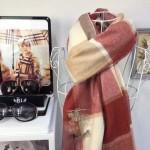 Lvaaa.tw-圍巾032-4 巴寶莉人氣新款經典格紋系列厚款羊絨披肩圍巾