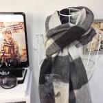 Lvaaa.tw-圍巾032-3 巴寶莉人氣新款經典格紋系列厚款羊絨披肩圍巾