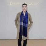 Lvaaa.tw-圍巾033-3 巴寶莉男女通用吳亦凡同款格子條紋絲羊絨長款圍巾