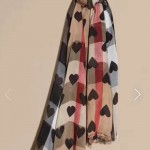 Lvaaa.tw-圍巾031 巴寶莉專櫃新款女士桃心羊絨長款圍巾