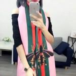 GUCCI圍巾-40-03 古馳最新小蜜蜂系列雙面數碼噴繪披肩圍巾