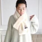 ACNE圍巾-1-01 艾克妮人氣熱銷純色仿獺兔毛加厚圍脖