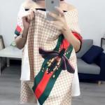 GUCCI圍巾-40-02 古馳最新小蜜蜂系列雙面數碼噴繪披肩圍巾