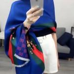 GUCCI圍巾-40-01 古馳最新小蜜蜂系列雙面數碼噴繪披肩圍巾