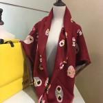 Fendi圍巾-4 芬迪原單頂級絲毛提小怪物元素花方