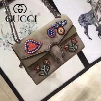 GUCCI 400249-029 歐美時尚新款女士Dionysus系列手工彩繡花朵刺繡包