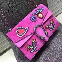GUCCI 400249-028 歐美時尚新款女士Dionysus系列手工彩繡花朵刺繡包