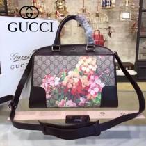 GUCCI 387509-01 人氣熱銷Shopping Bag系列PVC配牛皮大號手提購物袋