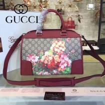 GUCCI 387509 人氣熱銷Shopping Bag系列PVC配牛皮大號手提購物袋
