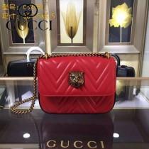 GUCCI 432530-01 歐美時尚新款全皮系列虎頭女士斜背包