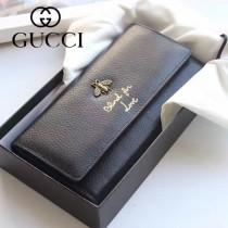 454070-2 專櫃時尚新款黑色全皮小蜜蜂系列長夾