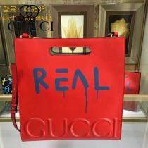 GUCCI 409378-03 專櫃時尚新款塗鴉系列全皮大號手提肩背包