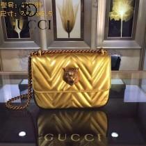 GUCCI 432530-02 歐美時尚新款全皮系列虎頭女士斜背包