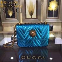 GUCCI 432530-03 歐美時尚新款全皮系列虎頭女士斜背包