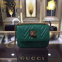 GUCCI 432530-04 歐美時尚新款全皮系列虎頭女士斜背包