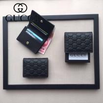 GUCCI 410088-03 人氣熱銷時尚新款全皮壓花零錢包卡片包