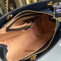 GUCCI 453773-02 專櫃時尚新款進口牛皮女士肩背包
