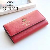 454070-1 專櫃時尚新款紅色全皮小蜜蜂系列長夾