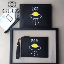 GUCCI 445588-01 人氣熱銷時尚新款個性塗鴉系列手拿包