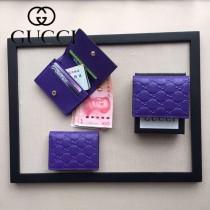GUCCI 410088-05 人氣熱銷時尚新款全皮壓花零錢包卡片包