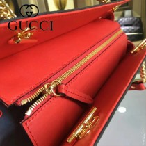 GUCCI 453773-01 專櫃時尚新款進口牛皮女士肩背包