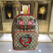 GUCCI 427042 專櫃時尚新款刺繡系列限量版雙肩包