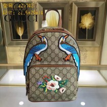 GUCCI 427042-01 專櫃時尚新款刺繡系列限量版雙肩包