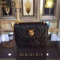 GUCCI 432530 歐美時尚新款全皮系列虎頭女士斜背包