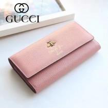 454070 專櫃時尚新款粉色全皮小蜜蜂系列長夾