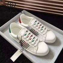 GUCCI鞋子-015-8 古馳早春新款上市鏤空紅綠織帶情侶休閒鞋