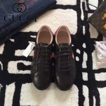 GUCCI鞋子-015-11 古馳早春新款上市蜜蜂刺繡紅藍尾情侶休閒鞋
