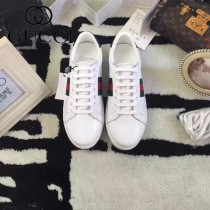 GUCCI鞋子-015-5 古馳早春新款上市鱷魚皮綠尾紅綠織帶情侶休閒鞋