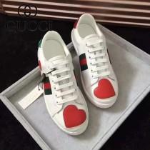 GUCCI鞋子-015-2 古馳早春新款上市閃電鑲鑽紅綠織帶情侶休閒鞋