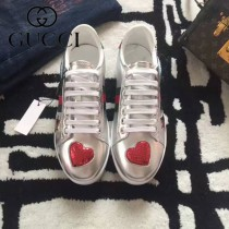 GUCCI鞋子-015-12 古馳早春新款上市愛心星星紅綠尾情侶休閒鞋