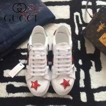 GUCCI鞋子-015-14 古馳早春新款上市星星紅綠尾情侶休閒鞋