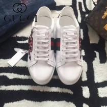 GUCCI鞋子-015-13 古馳早春新款上市蛇刺繡紅綠尾情侶休閒鞋