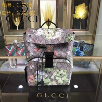 GUCCI 410544 時尚新款天竺葵系列PVC配牛皮雙肩包書包