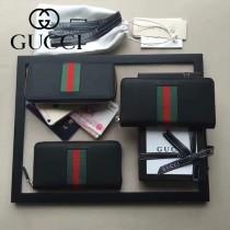 GUCCI-000004 新款紅綠織帶款拉鏈錢包