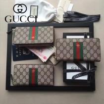 GUCCI-000004-1 新款紅綠織帶款拉鏈錢包
