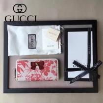 GUCCI-00003-1新款時尚帆布配牛皮春夏款長夾
